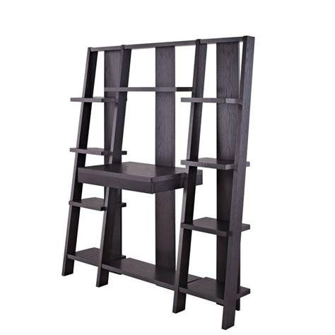 Altra Ladder Desk And Bookcase Espresso Finish by Altra Furniture Ladder Bookcase With Desk In Espresso