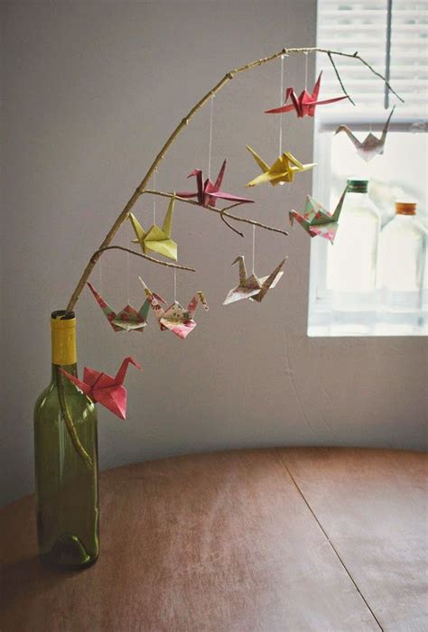 How To Make A Paper Butterfly Mobile - 25 best ideas about origami mobile on diy