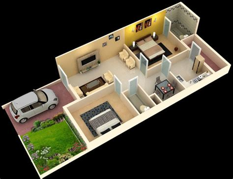 13 awesome 3d house plan ideas that give a stylish new ideas 1000 sq ft house plans 2 bedroom indian style house