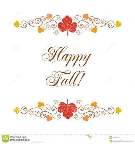 fall card template happy fall card stock vector image 60392776