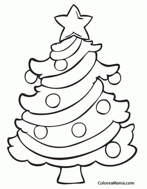 dibujo de rbol de navidad para colorear dibujosnet