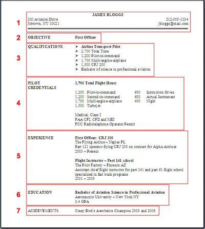 Pilot Sle Resume An Exle Resume Pilot Resume Template