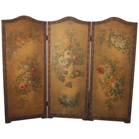 Vintage Painted Tri Fold Room 17 Best Images About Room Dividers On