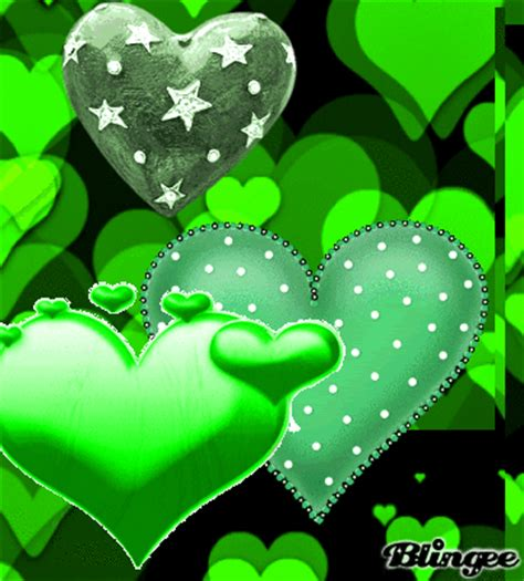 green wallpaper with hearts green heart picture 114373891 blingee com