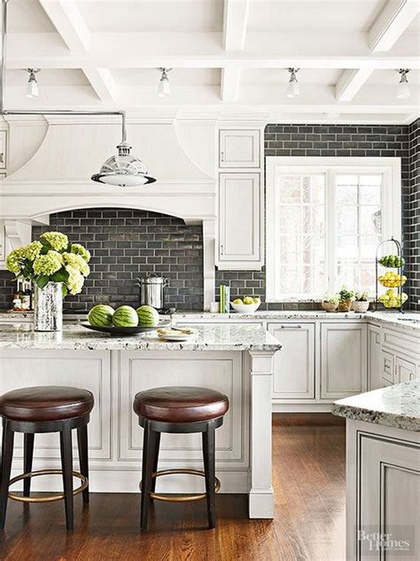 black subway tile kitchen backsplash 35 beautiful kitchen backsplash ideas hative