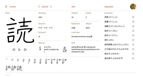 how to read japanese kanji alive a free study tool for reading and writing kanji