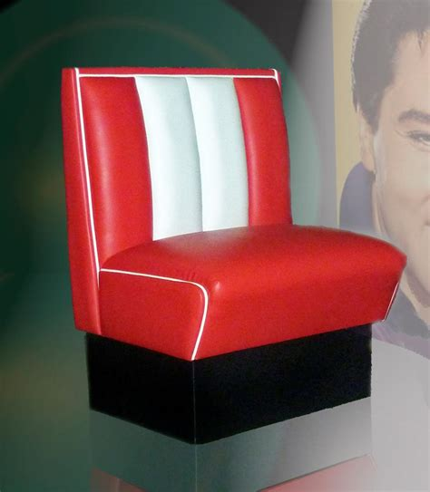 retro furniture diner booth hw70 single seater lawton imports