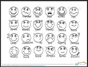 Emotions Coloring Page Feeling Faces Printable Coloring Sheet Printable by Emotions Coloring Page