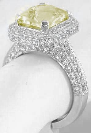 light yellow sapphire ring radiant cut light yellow sapphire and ring gr 5709