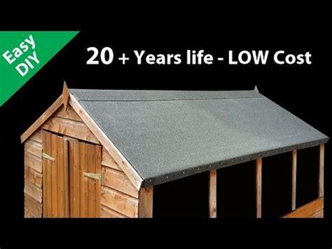 felt  shed roof fit long life roofing felt youtube