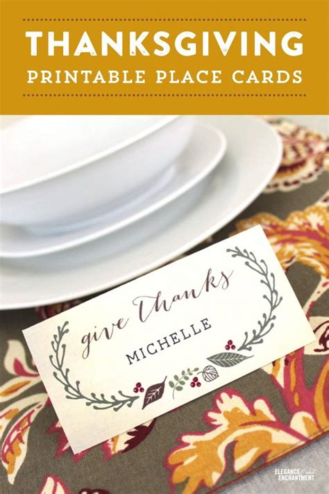 Thanksgiving Dinner Place Cards Template by Free Printable Thanksgiving Place Cards With Editable Type