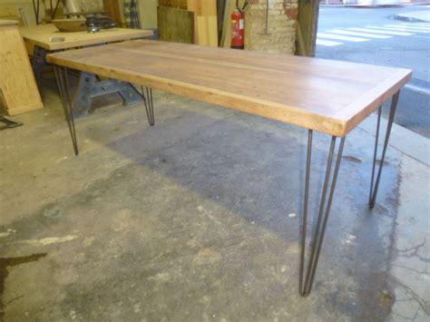 table de cuisine pieds 233 pingle bois exotique robin sicle