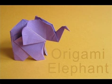 How To Make Origami Elephant - origami elephant elefante de papel