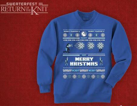 Sweater Mortal Combat Leo Cloth apparel of the week mortal kombat sub zero faux sweater the robot s voice