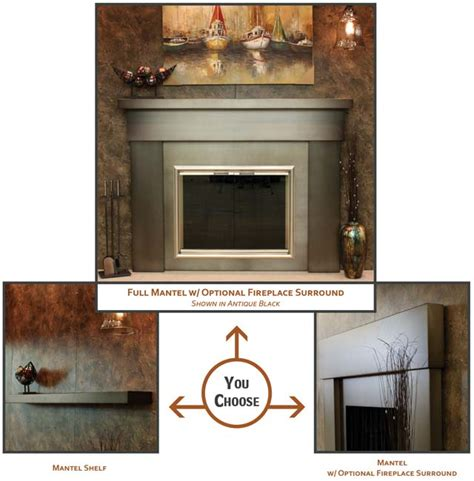 Metal Fireplace Mantel by Steel Fireplace Mantles Hearth Manor Fireplaces Gta