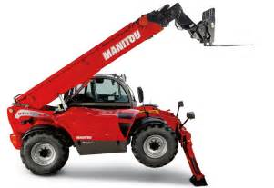 Manitou mt1840 telehandler demonstrates the additional lift provided