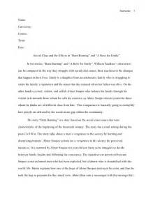 Barn Burning William Faulkner Summary Mla Style Essay William Faulkner