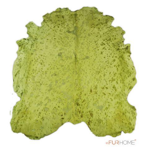green cowhide rug kiwi green large cowhide rug in animal shape fur home