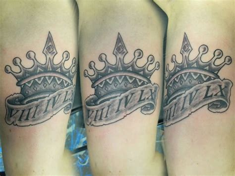 queen crowns tattoos banner and crown