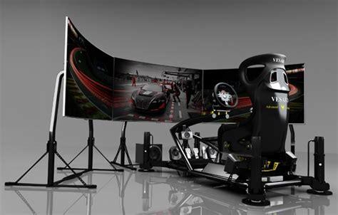 Black Kitchen Furniture vesaro 195 gaming cockpit boasts 1 1 scale cars onscreen