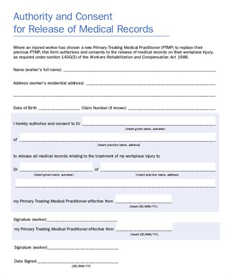 release for records form 9 sle records release forms sle templates