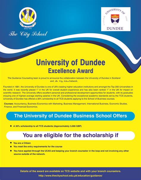 Of Dundee Mba Fees by The City School Pakistan The City School Collaborations