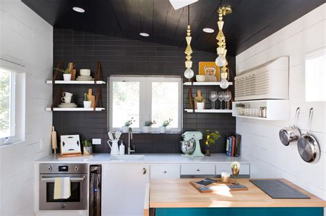tiny home with a big kitchen 9 teeny tiny kitchens packed with character hgtv s