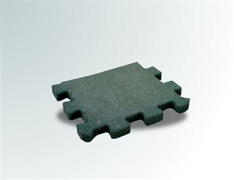 puzzle gomma per pavimento pavimento a puzzle in gomma antitrauma verde 50x100 sp 2cm
