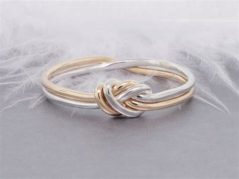 knot ring gold and silver ring promise ring