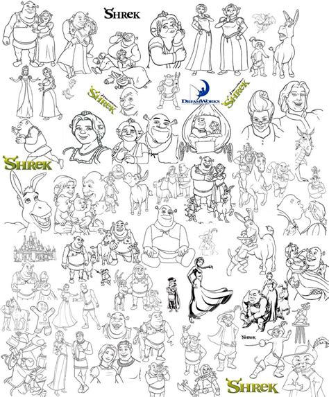 shrek s coloring page collage by catgal15 on deviantart