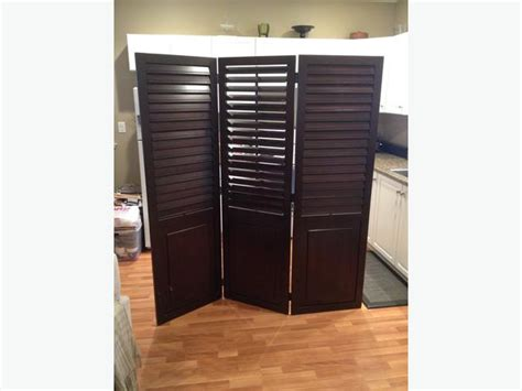 Pier One Room Divider Three Panel Hinged Plantation Shutter Room Divider From Pier 1 Central Saanich