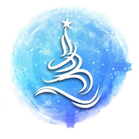 arbol navidad azul 225 rbol de navidad blanco sobre acuarela azul descargar