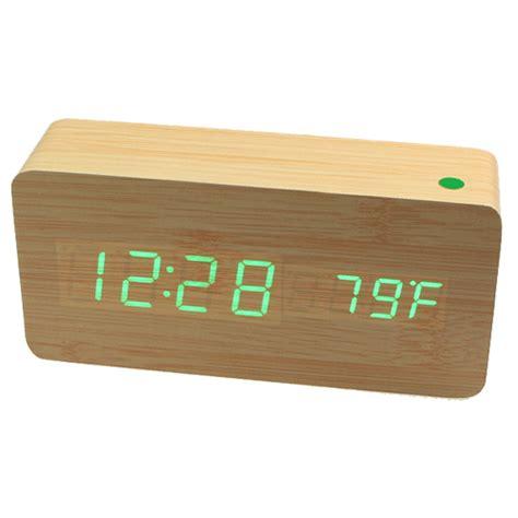 Led Digital Wood Clock Jk 828 led digital wood clock jk 858 brown jakartanotebook