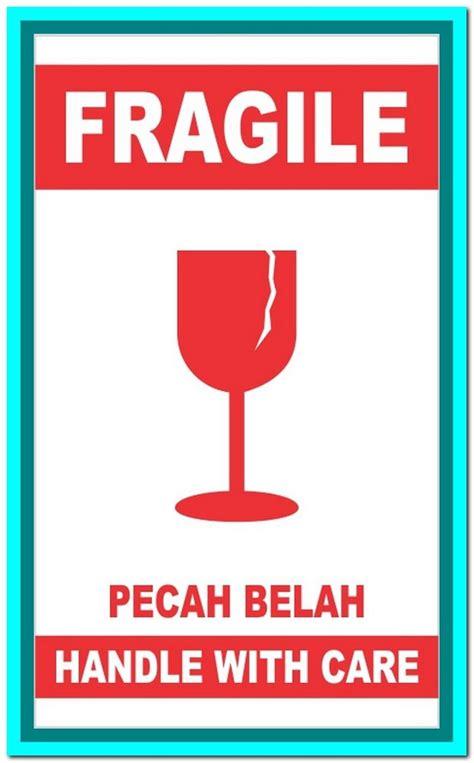Stiker Fragile Shop Sticker Fragile Bisa Tambah Nama Toko gambar jual sticker fragile stiker barang pecah belah logo nama di rebanas rebanas