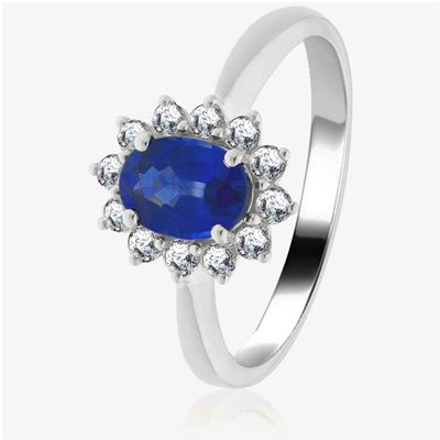 Blue Sapphire 8 30ct 1 30ct blue sapphire halo engagement ring