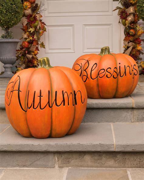 decorative pumpkins fall outdoor decorative pumpkins balsam hill