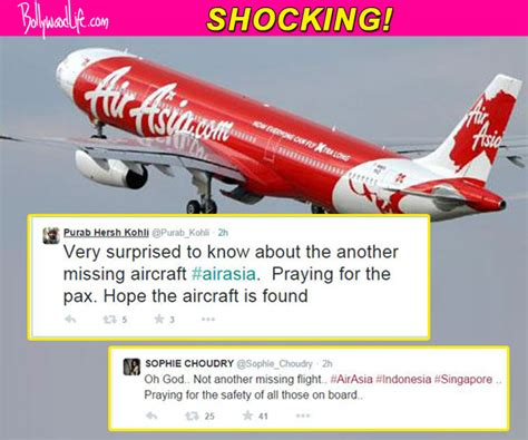 airasia twitter airasia plane goes missing bollywood reacts with shock on