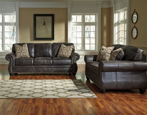 benchcraft leather sofa benchcraft breville 8000438 faux leather sofa with rolled