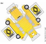 Renault 4  R4 Logo Immagini Schema Modello Carta Taglia