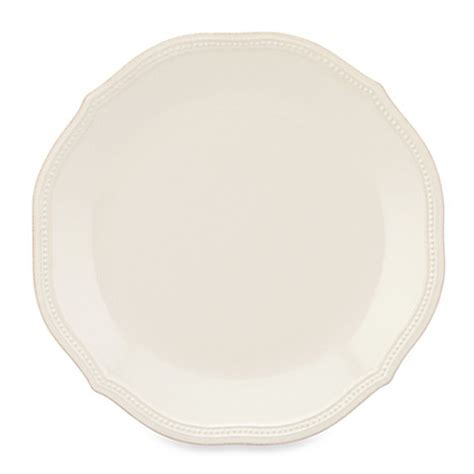 lenox perle bead white lenox 174 perle bead dinner plate in white bed bath