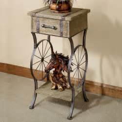 Rustic Accent Table Open Range Western Accent Table