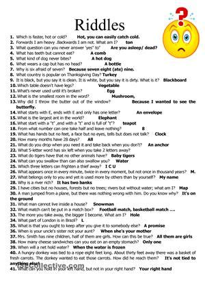 free printable short jokes a collection of short riddles i have gathered over the