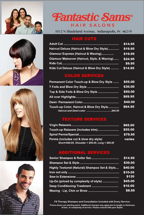 list of hair salon in sm north fantastic sams shadeland