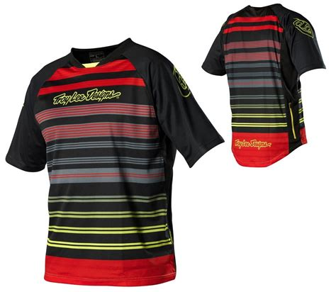 troy lee designs xc jersey troy lee designs skyline mtb dh jersey lynx striped red
