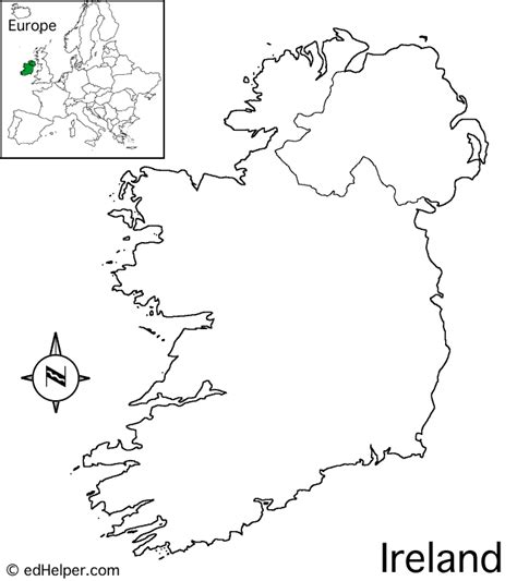 Ie Map Area Outline by Ireland Outline Map