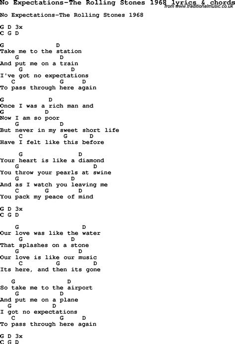 stones lyrics song lyrics for no expectations the rolling stones
