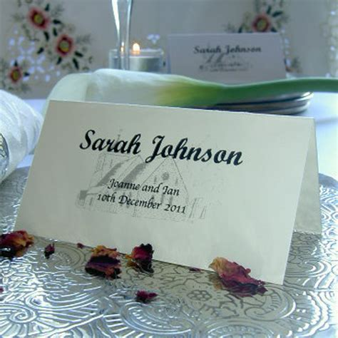 ebay co uk wedding place cards personalised wedding place name table setting meal cards