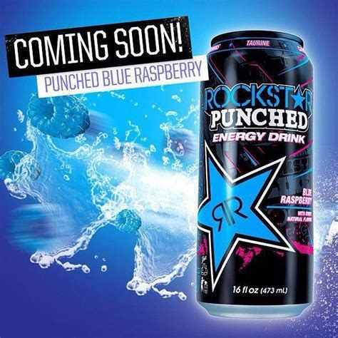 master p new energy drink new rockstar punched blue raspberry coming soon in usa