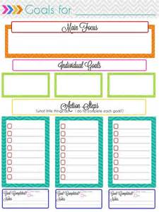 goal setting calendar template printable planner planner pages and planners on