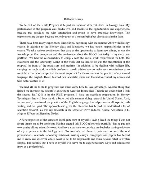 Course Reflection Essay by Reflective Essay
